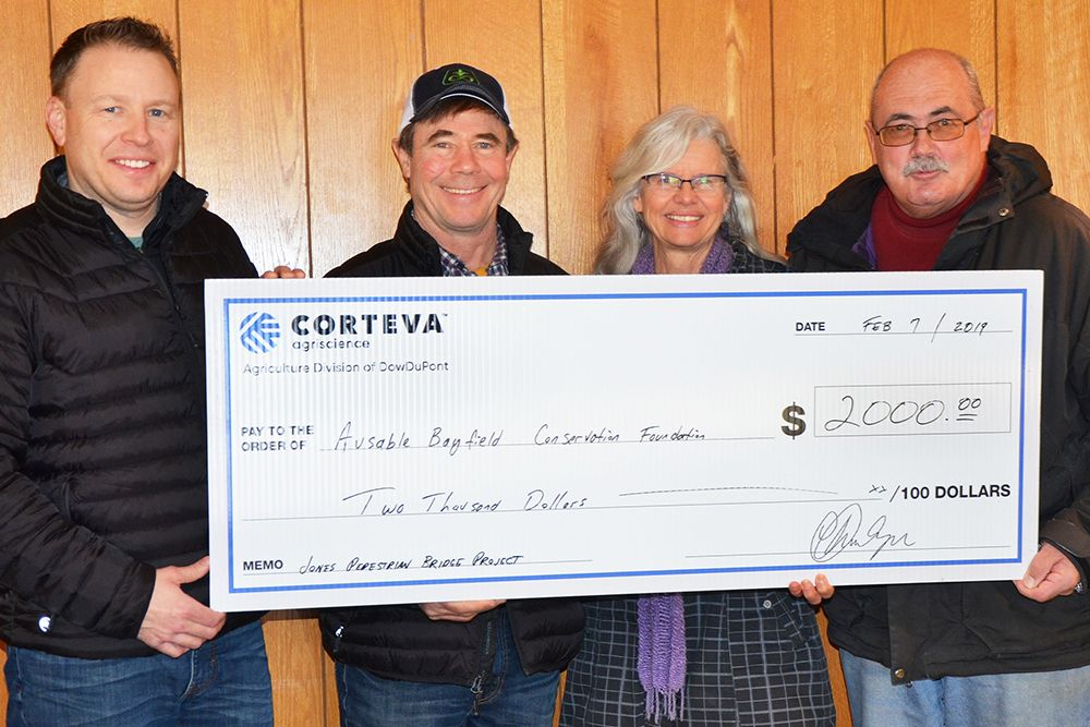 Thanks go to Corteva Agriscience for their $2,000 donation to Pedestrian Trail Bridge