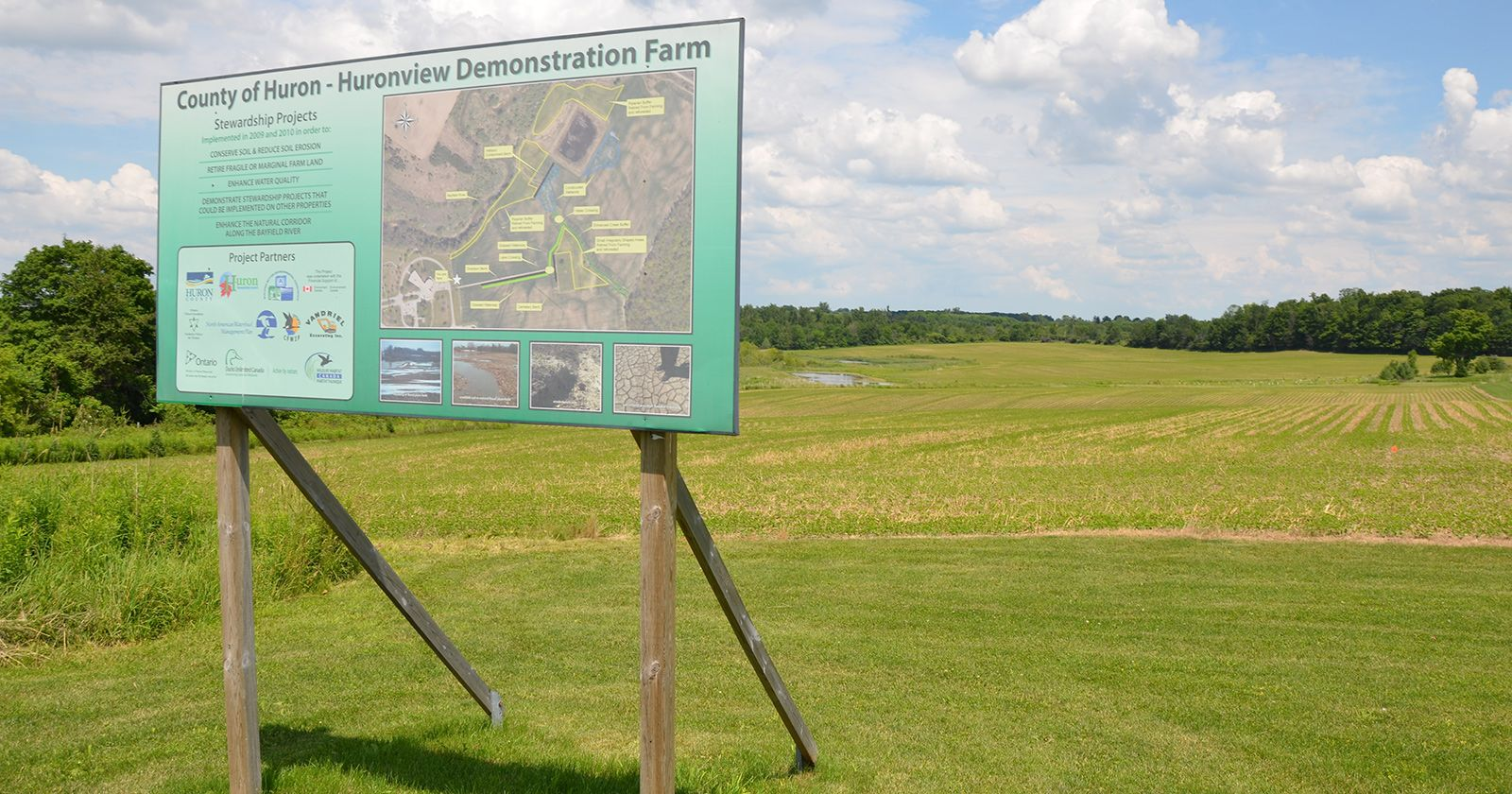 Huron County demonstration farm near Clinton