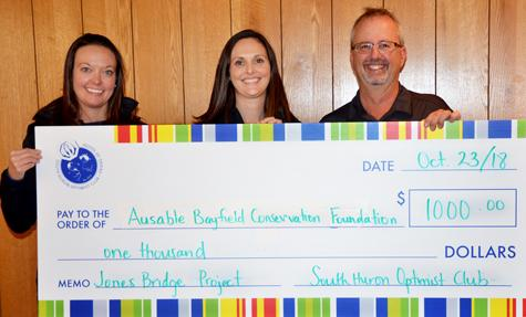 South Huron Optimists donate to Jones Bridge Project