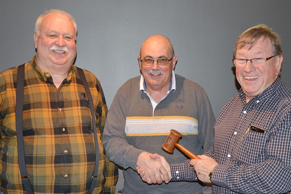 Vice Chair Charlie Miner; Chair Dave Frayne; Past Chair Bob Radtke