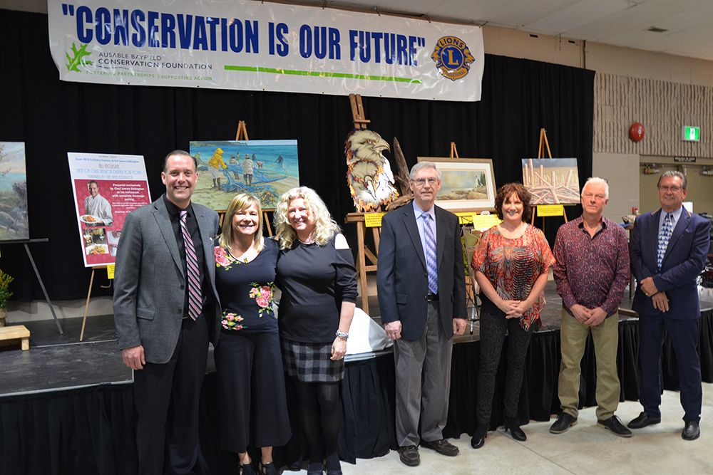 Some of the former feature artists who contributed to the 30th Conservation Dinner.
