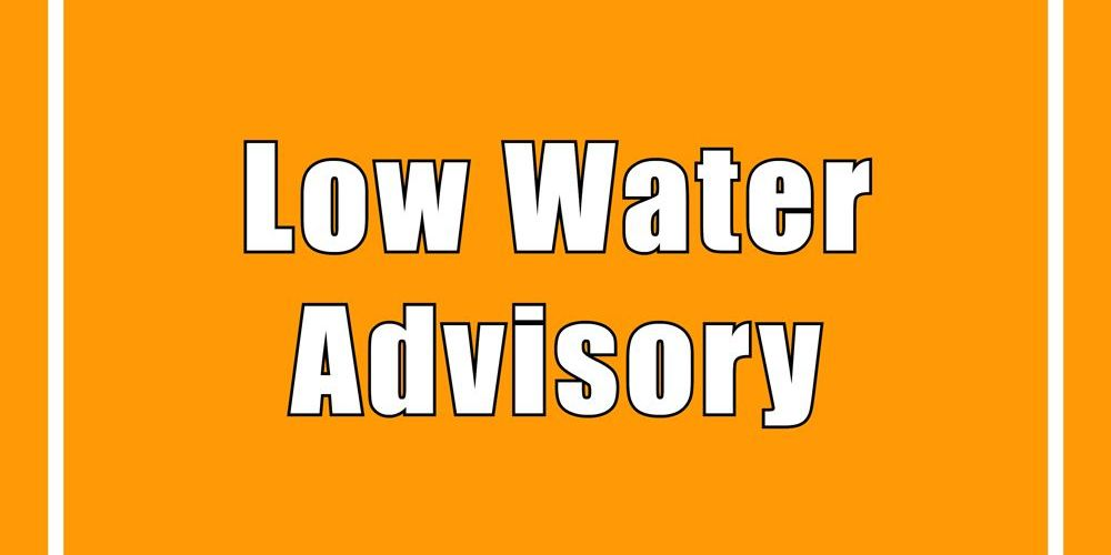 Level 2 Low Water Advisory for Bayfield River watershed