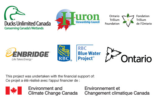 logos of partners in Healthy Headwaters Wetlands project